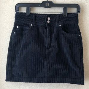 Urban Outfitters Black Corduroy Skirt